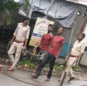 दो लोग हुए गिरफ्तार, भेजा गया जेल