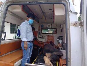 घायल ग्रामीण को रिम्स, रांची रेफर किया गया
