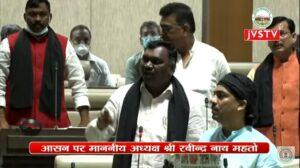 सदन के अंदर काली पट्टी लगाकर प्रदर्शन कर रहे भाजपा विधायक
