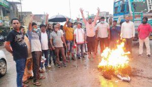 भाजपा अनुसूचित जनजाति मोर्चा ने प्रदेशभर में बंधु तिर्की का पुतला फूंका