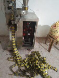 गुटखा बनाने वाला मिश्रण, 30 बोरा और 10 बोरा गुटखा और रेपर,मसीन सहित चार लोगों को गिरफ्तार किया